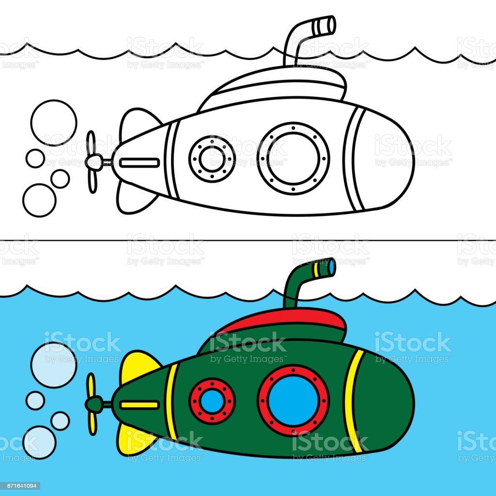 Denizalti Boyama Stok Vektor Sanati Animasyon Karakter Nin Daha