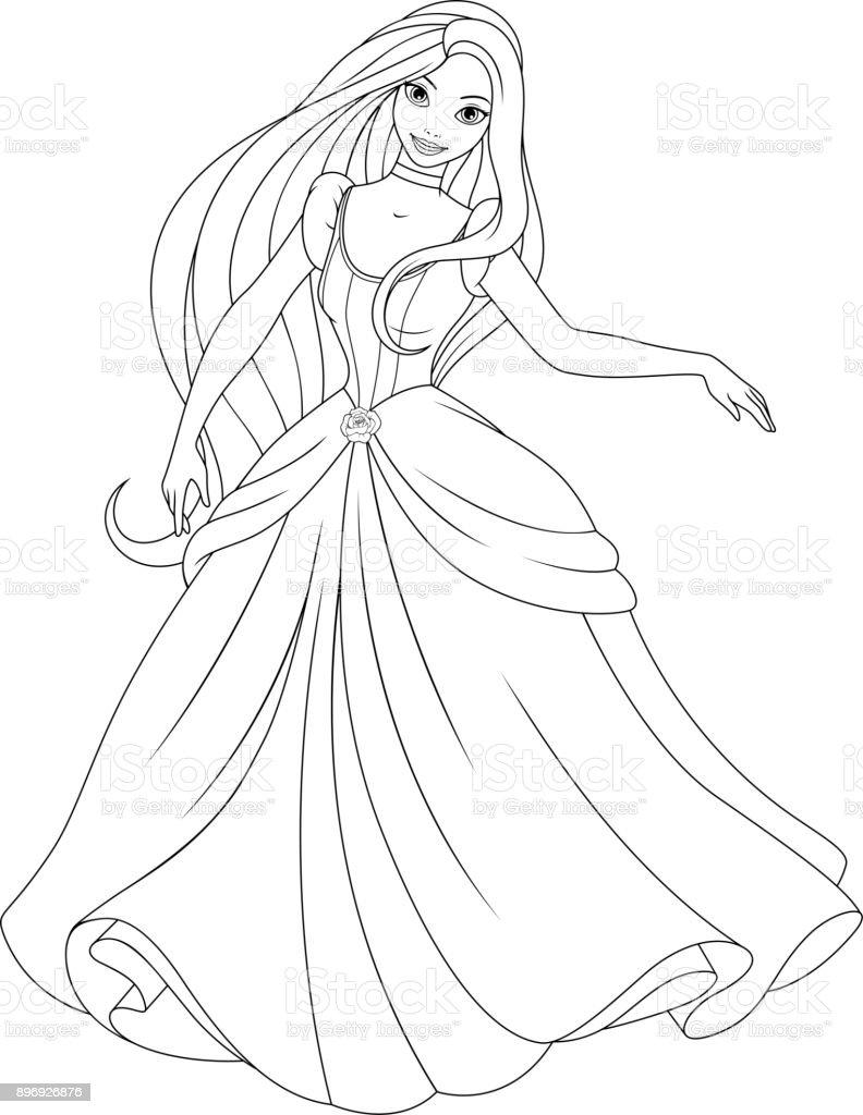Güzel Prenses Boyama Stok Vektör Sanatı 13 19 Yaş Arasınin Daha