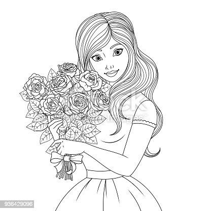 istock Hermosa princesa 896926890 istock Para colorear la hermosa ...