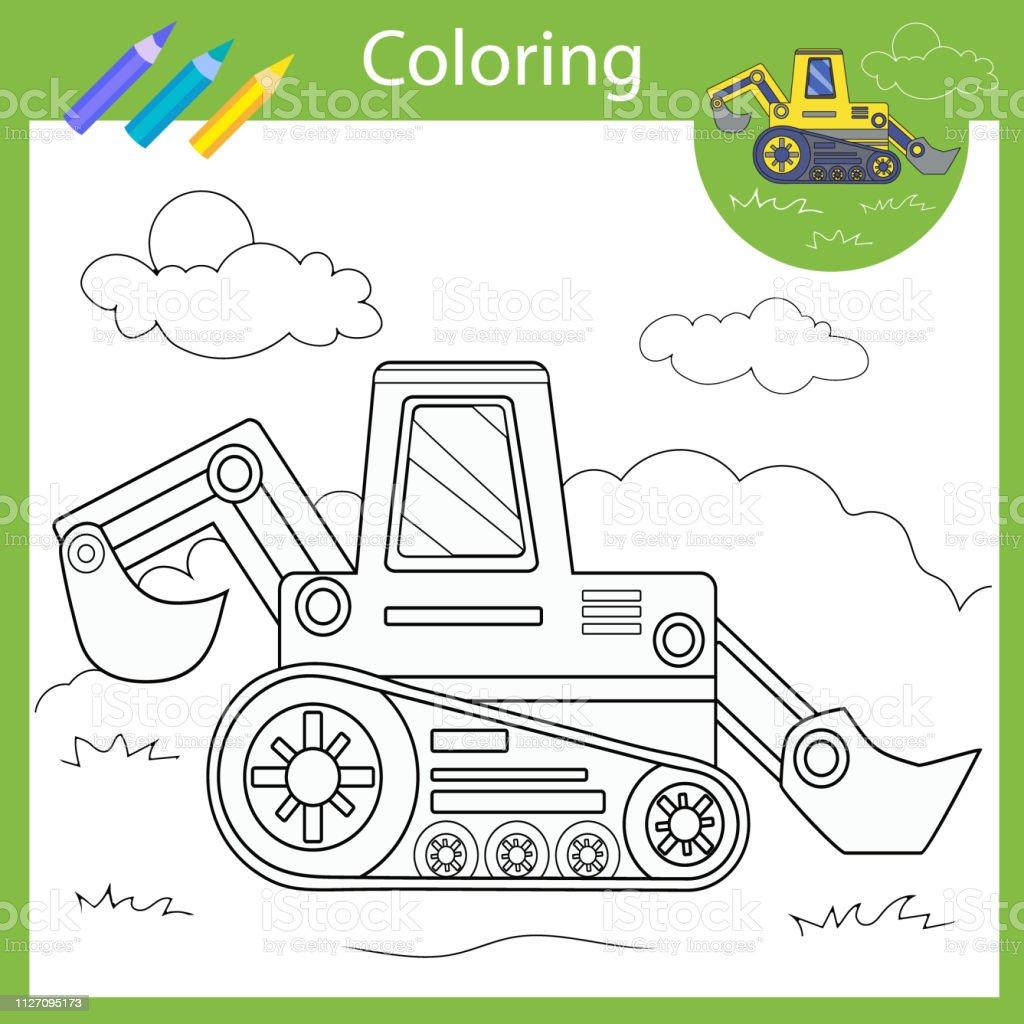 malvorlage traktor einfach
