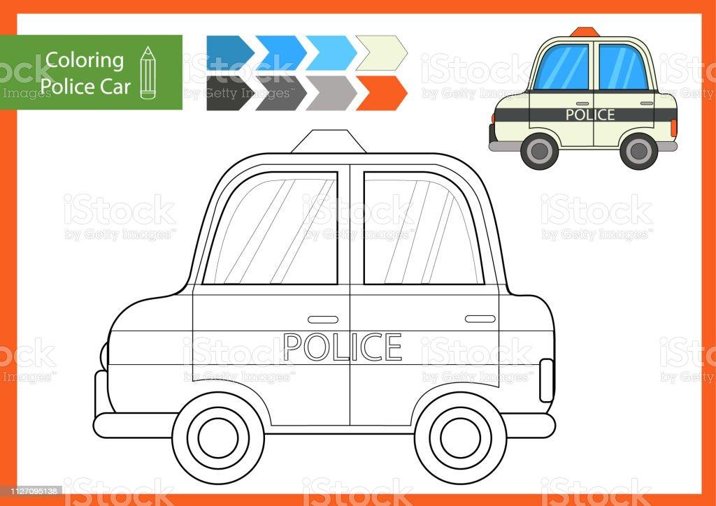 malvorlagen polizeiauto zeichnung