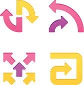 colorpress arrow sign set XV