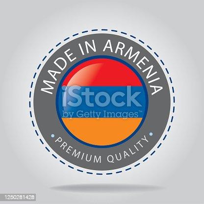 istock ARMENIA Colors Background,ARMENIAN National Flag (3D Render) 1250281428