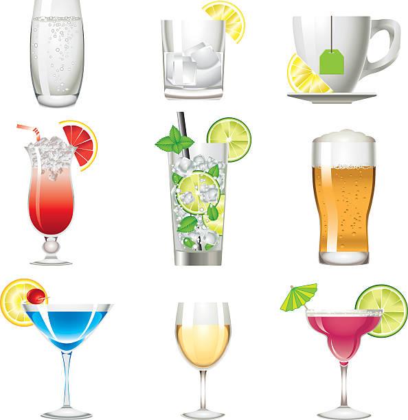illustrations, cliparts, dessins animés et icônes de couleurs icône de boisson de l'alcool boisson - infusion pamplemousse