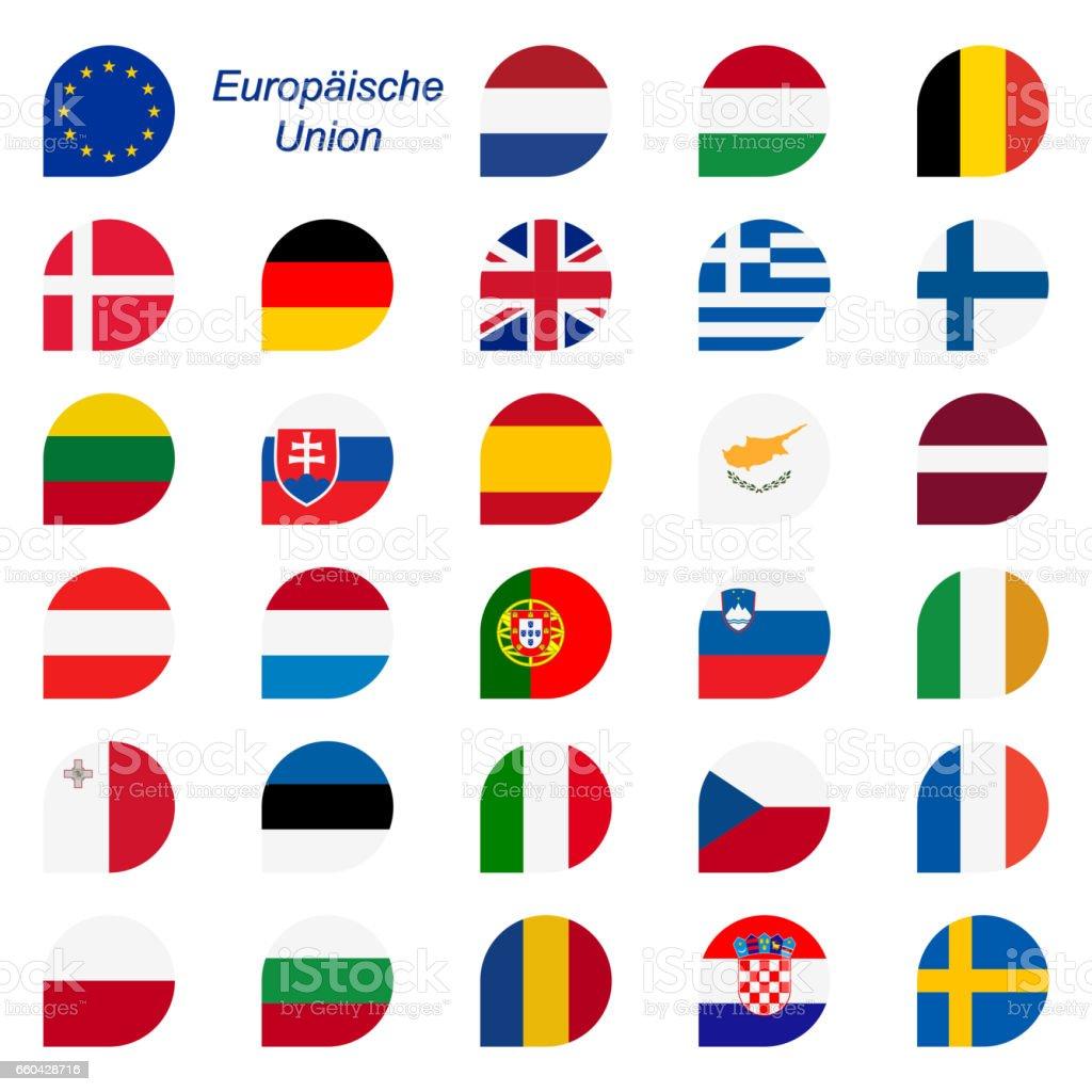Farben der EU-Mitgliedstaaten – Vektorgrafik