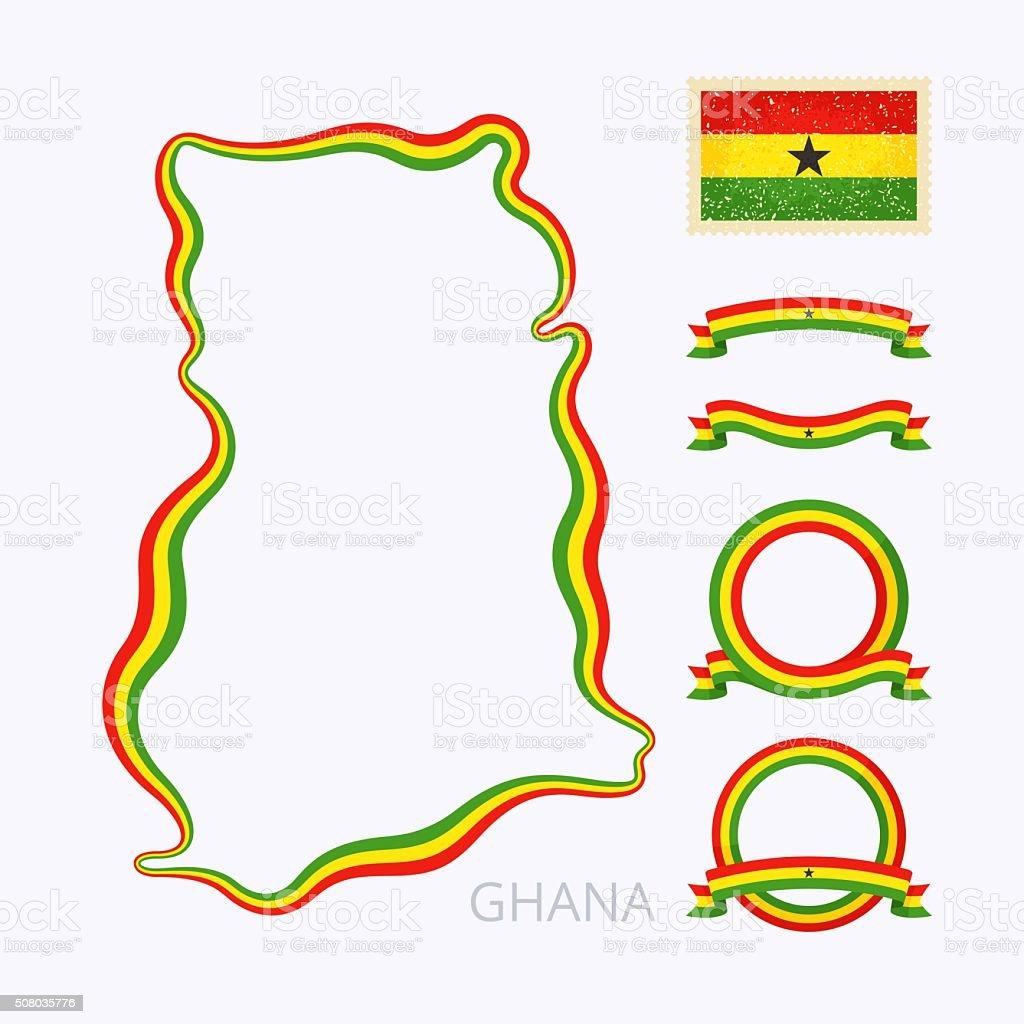 Colores de Ghana - ilustración de arte vectorial