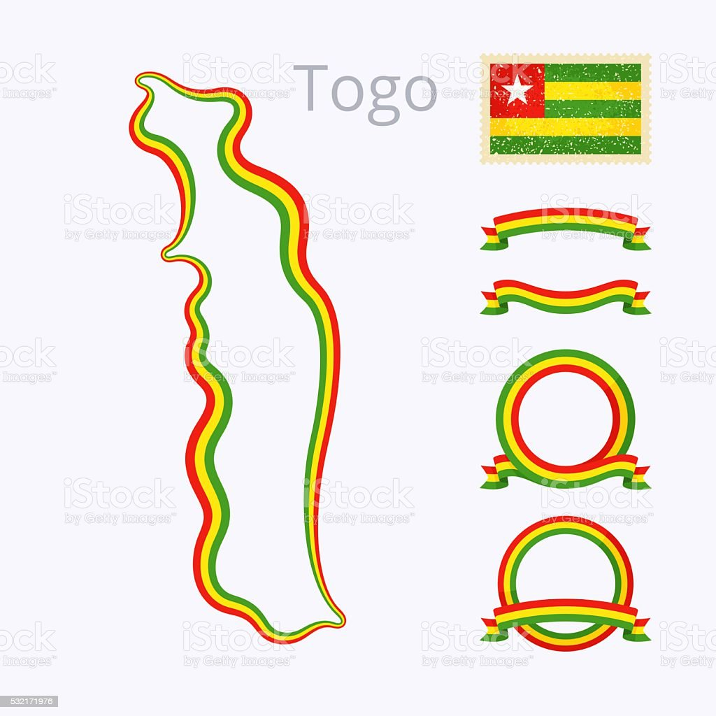 Colors Of Togo Stock Vector Art More Images Of Banner Sign - Package of map colors