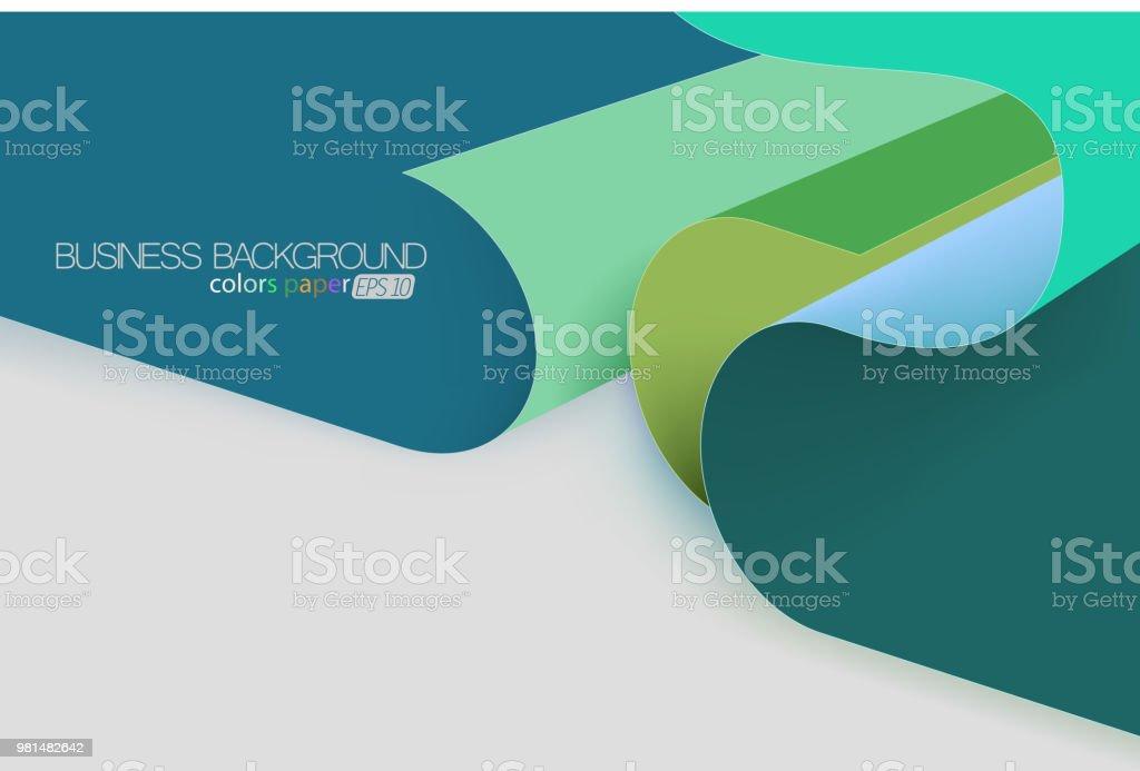 Colors paper concepts vector art illustration