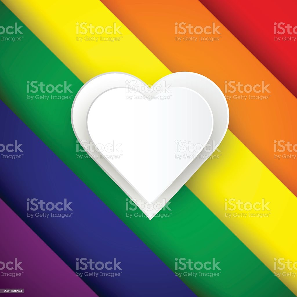 lgbt colors rainbow background rainbow template with heart pape の