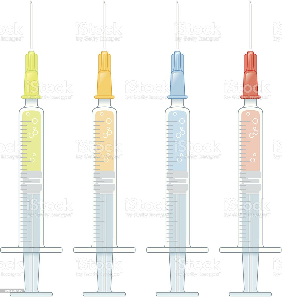 Colors Syringes royalty-free stock vector art