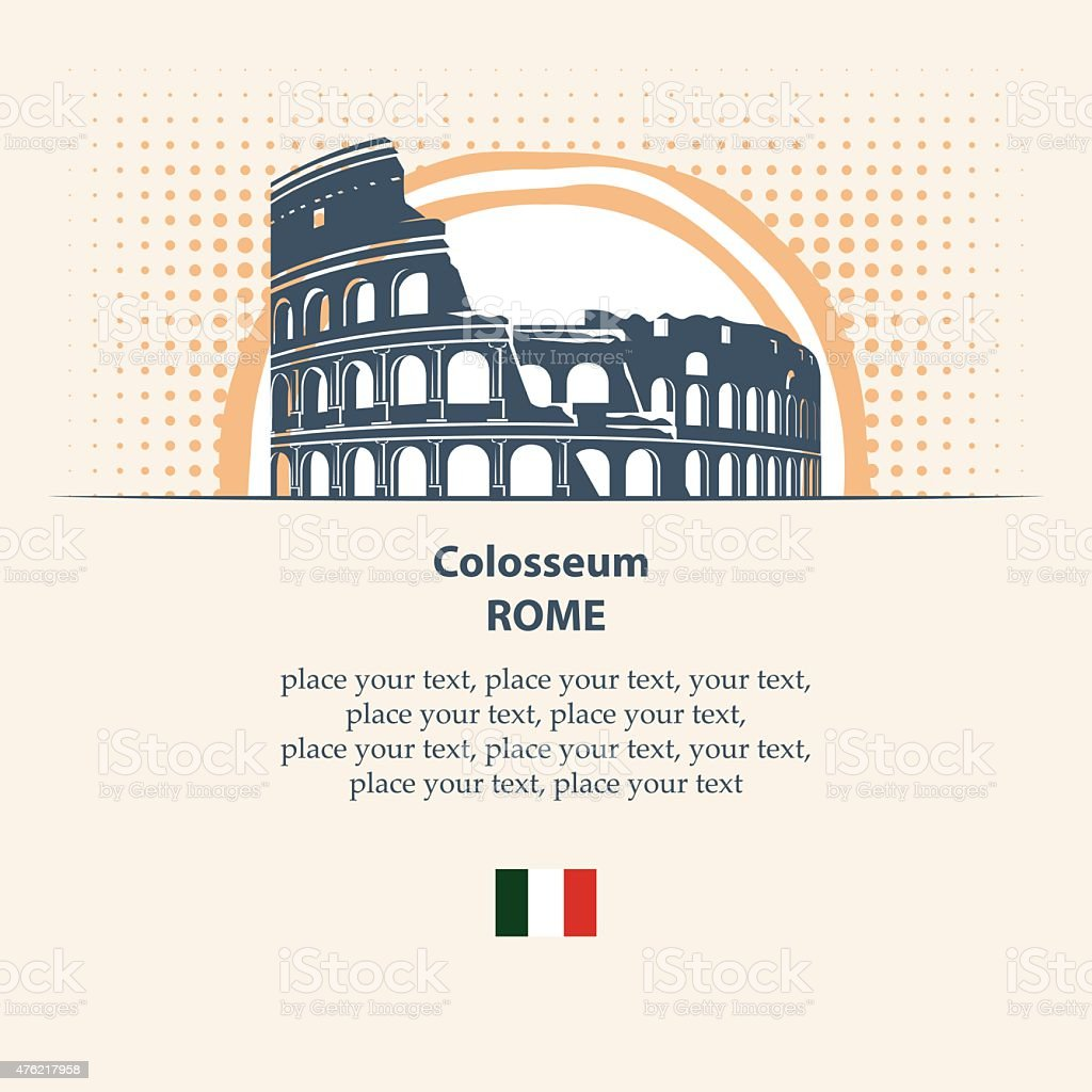 coloseum vector art illustration