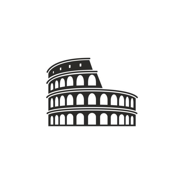 Colosseum in Rome This is a vector illustration of Colosseum in Rome coliseum rome stock illustrations