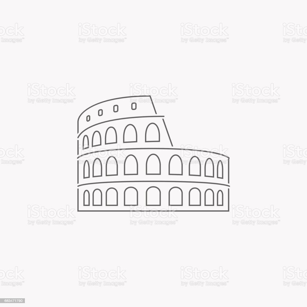 Colosseum in Rome vector art illustration