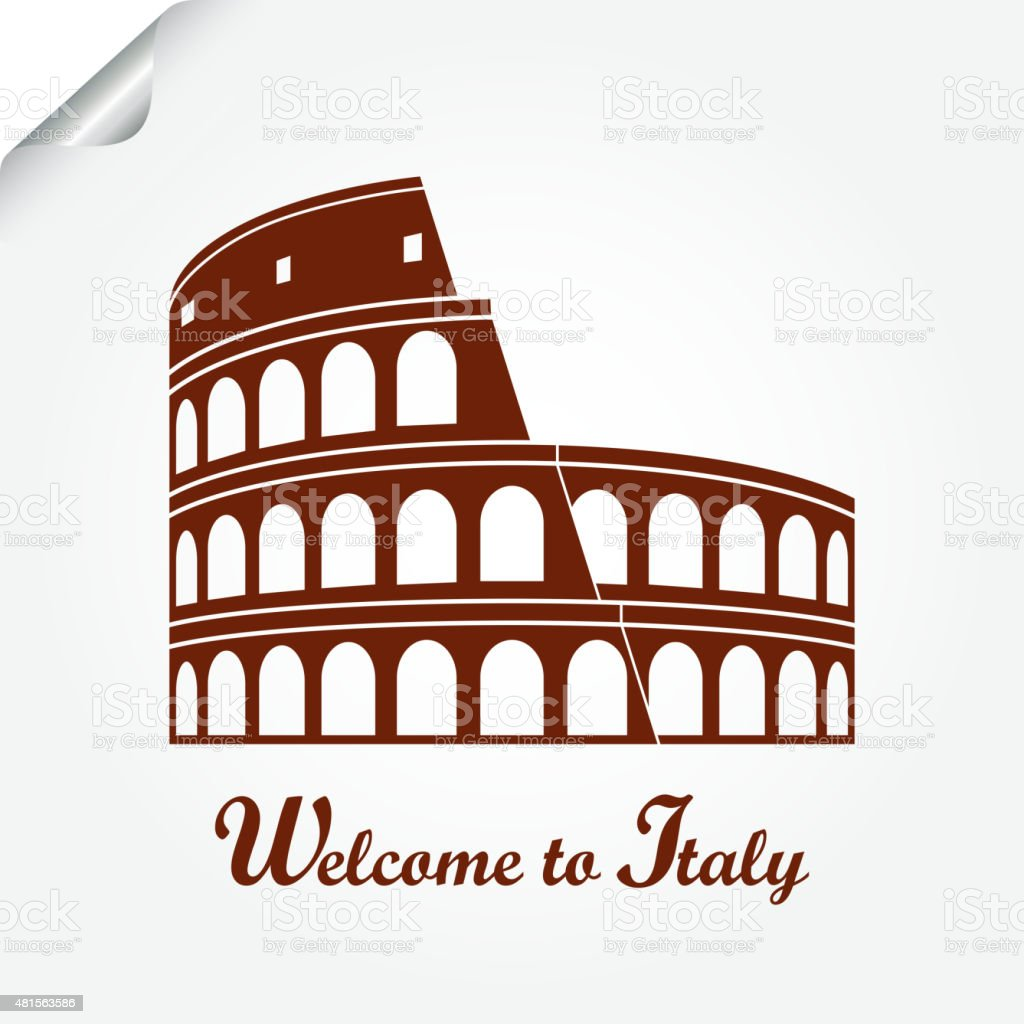 Colosseum, Rome vector art illustration