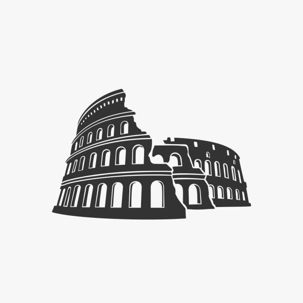 illustrations, cliparts, dessins animés et icônes de symbole de vecteur de colisée - rome