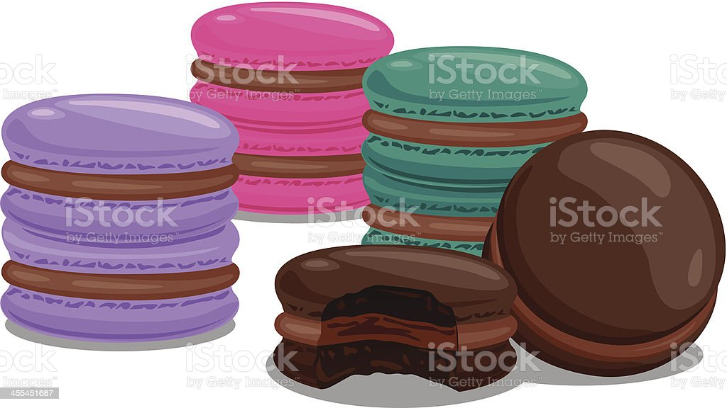 colouful macaroons royalty-free stock vector art