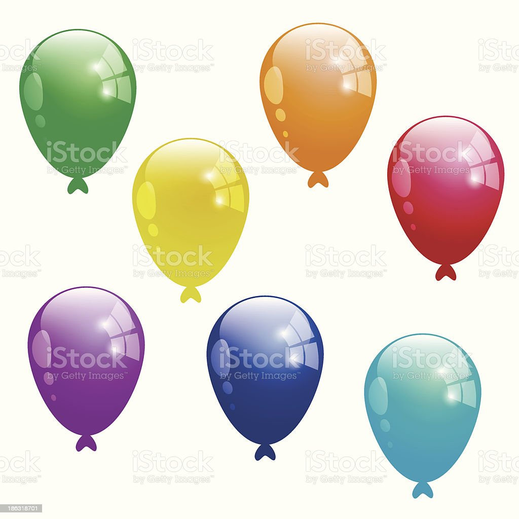 Colour Balloons royalty-free colour balloons stock vector art & more images of birthday