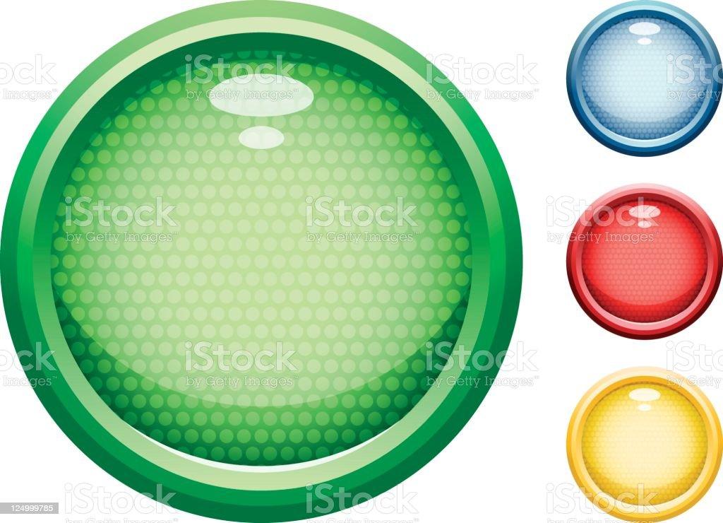 Colour buttons vector art illustration