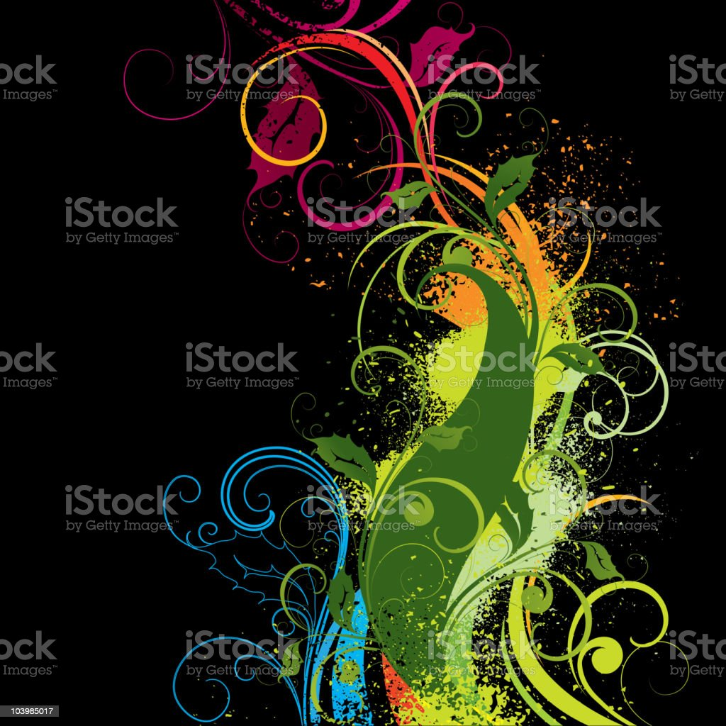 Colour composition royalty-free stock vector art