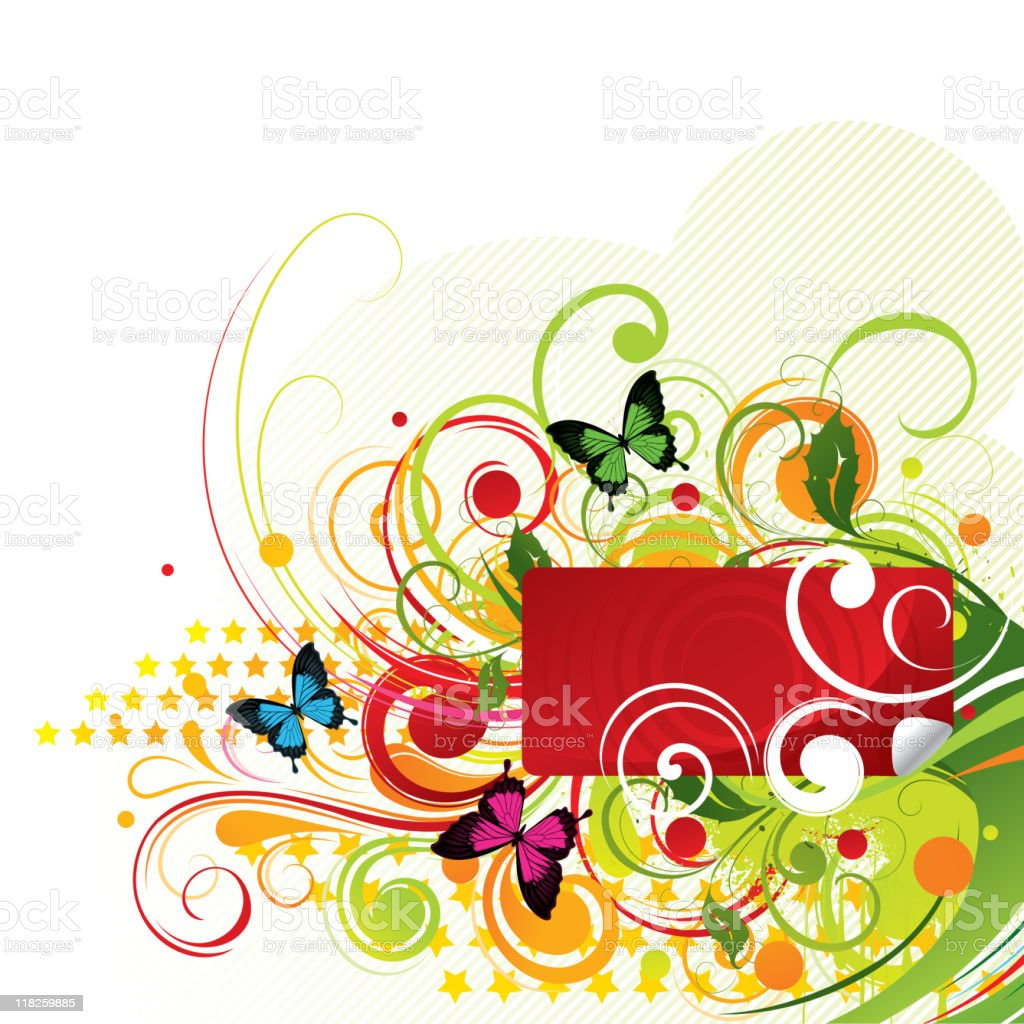 Colour composition with butterflies royalty-free colour composition with butterflies stock vector art & more images of abstract