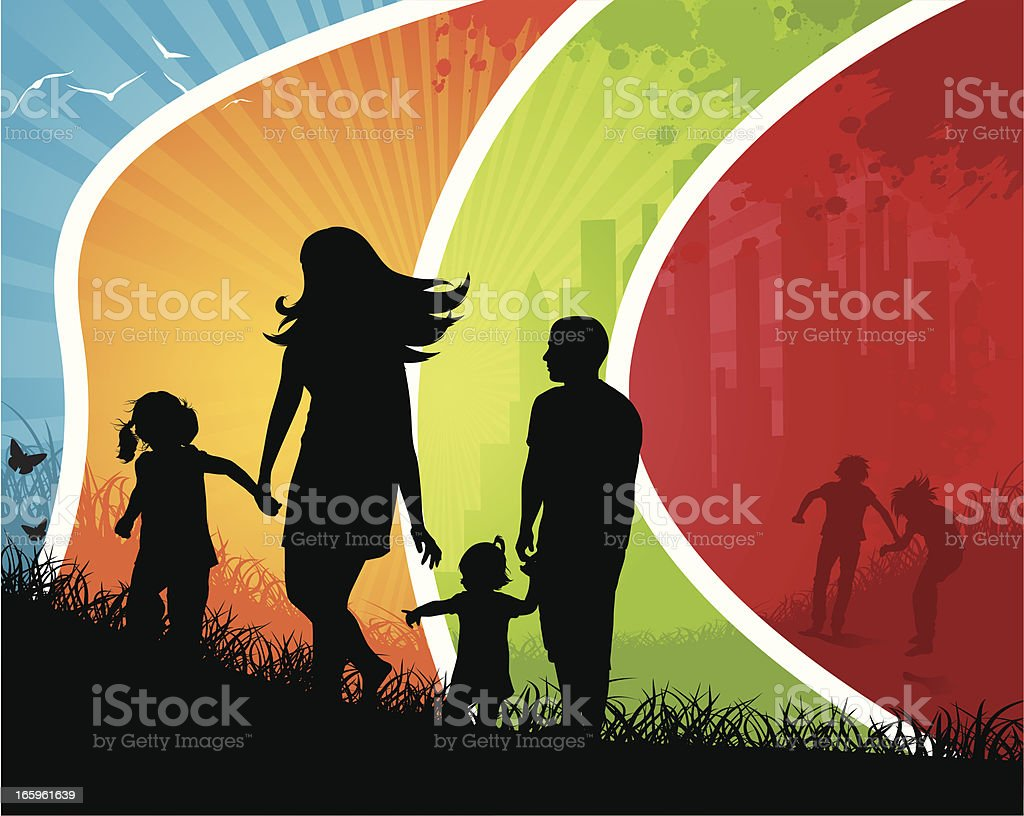 Colour Family on Nature royalty-free stock vector art
