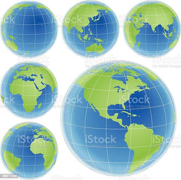 Colour Globe-vektorgrafik och fler bilder på Blå