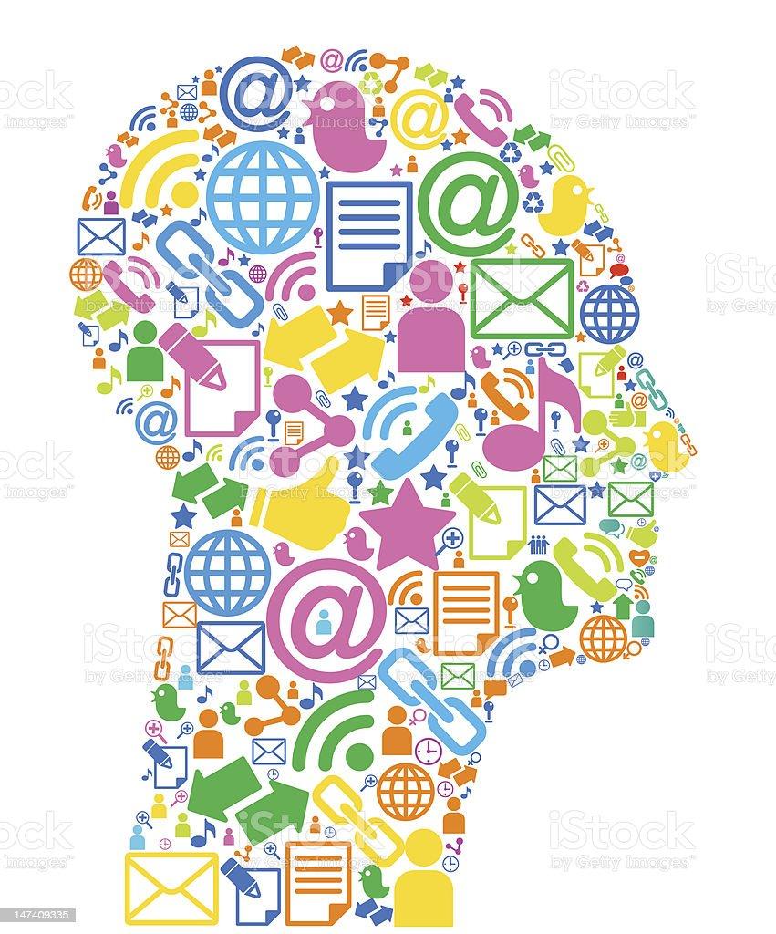 colour head symbol royalty-free stock vector art