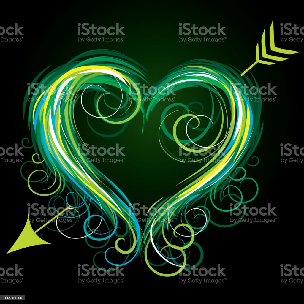 Colour heart royalty-free stock vector art