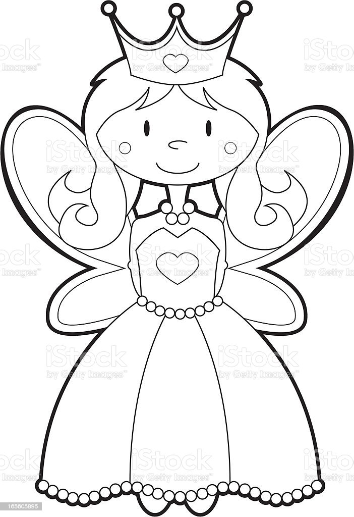 Colour Her In Fairy Princess Stock Vector Art Amp More