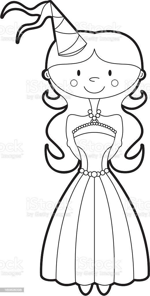 Colour Her In Princess Template Stock Vector Art & More Images of ...