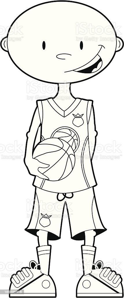 Colour In Basketball Player royalty-free colour in basketball player stock vector art & more images of adult