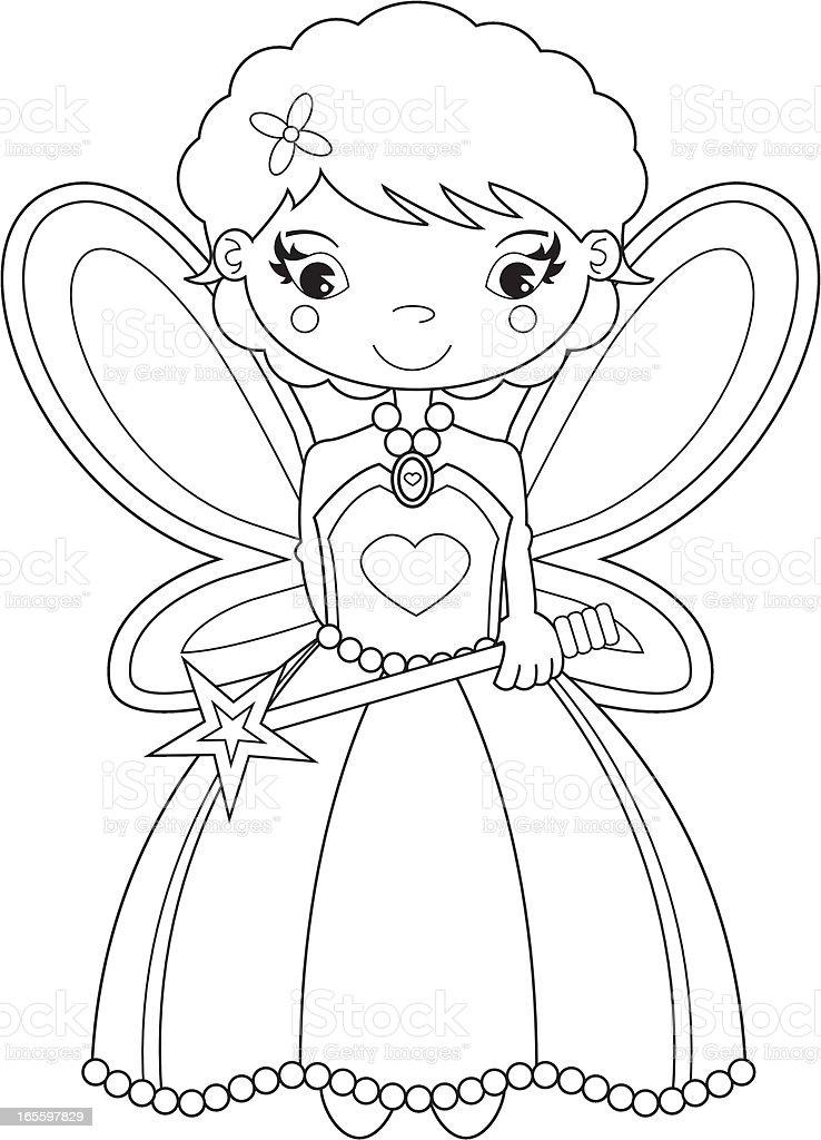Color de linda hada de caracteres ilustración de color de linda hada de caracteres y más banco de imágenes de adolescente libre de derechos