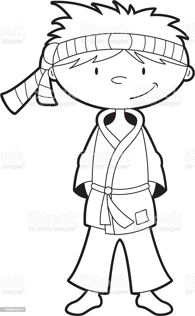 Color En El Karate Niño Illustracion Libre de Derechos 165604544 ...