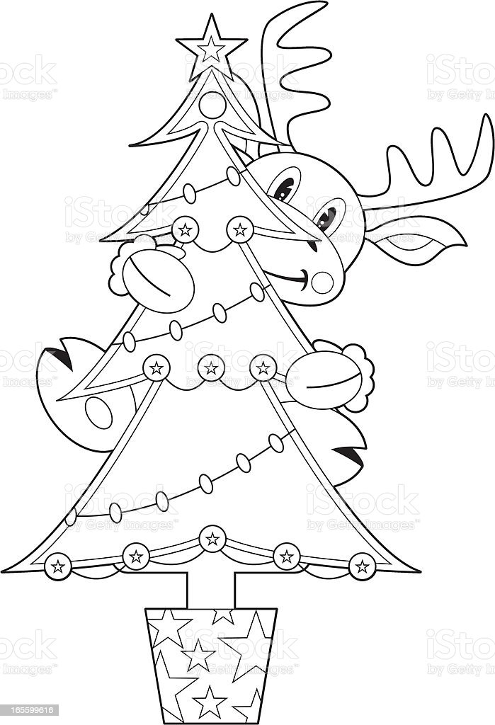 Color En Reno árbol De Navidad - Arte vectorial de stock y más ...