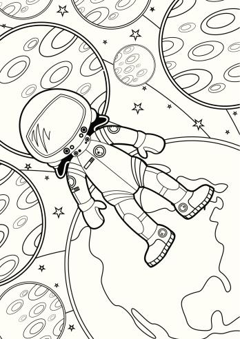 Colour In Spaceman Scene
