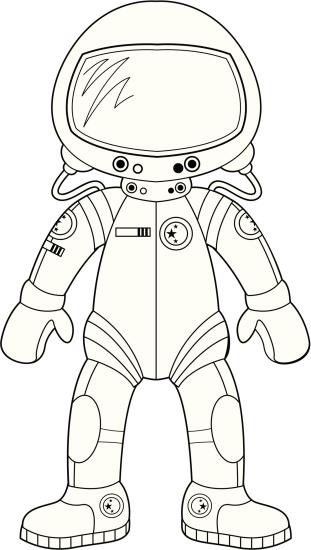 Colour In Spacesuit