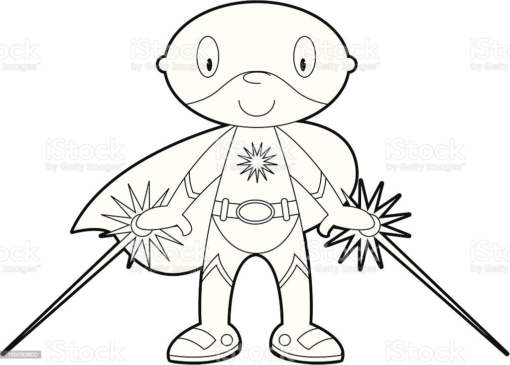 Colour In Superhero Character Stock Vector Art & More Images of Boys ...