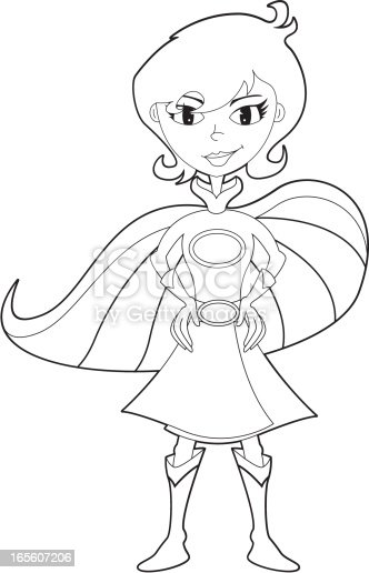 Colour It In Super Woman Template Stock Vector Art & More
