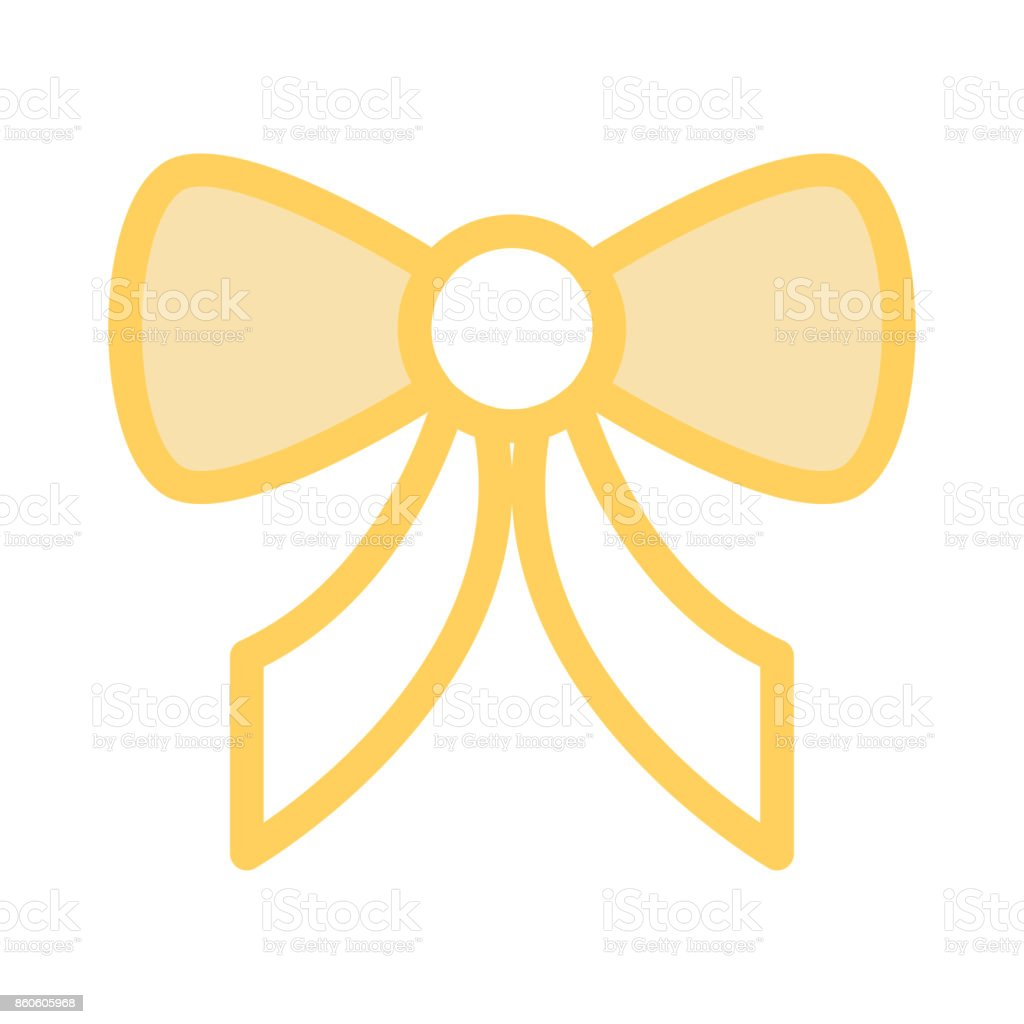 BOW Colour Line Vector Icon vector art illustration