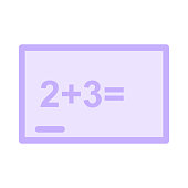ADDITIONAL SUMS colour line vector icon
