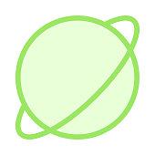 EARTH GLOBE colour line vector icon