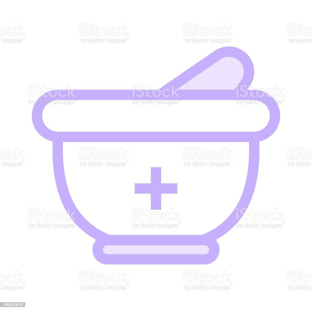 MEDICAL BOWL colour line vector icon vector art illustration