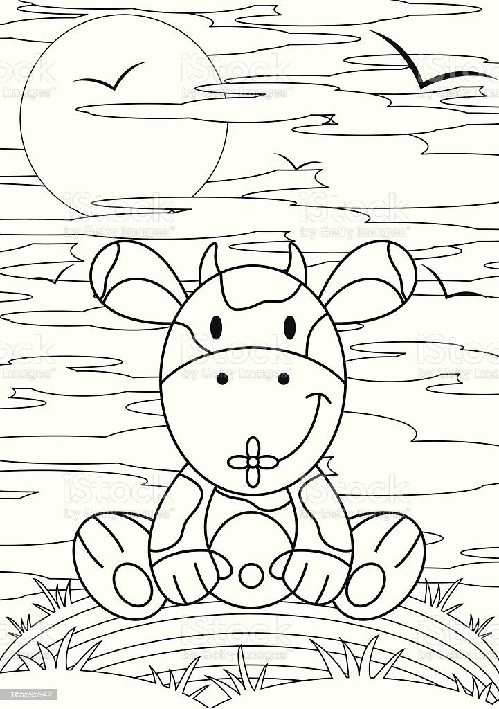 Colour Me Cow Character royalty-free colour me cow character stock vector art & more images of animal