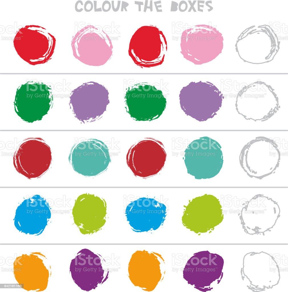 Ilustración de Color De Las Cajas Educativa Del Juego Lo Que Viene ...