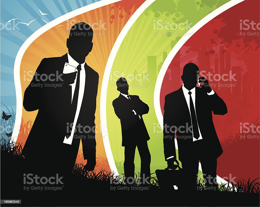 Coloured Business Team royalty-free stock vector art