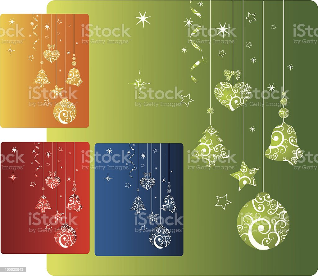 Coloured Christmas Card royalty-free stock vector art