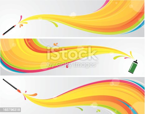 istock Colourful art banners 165796318