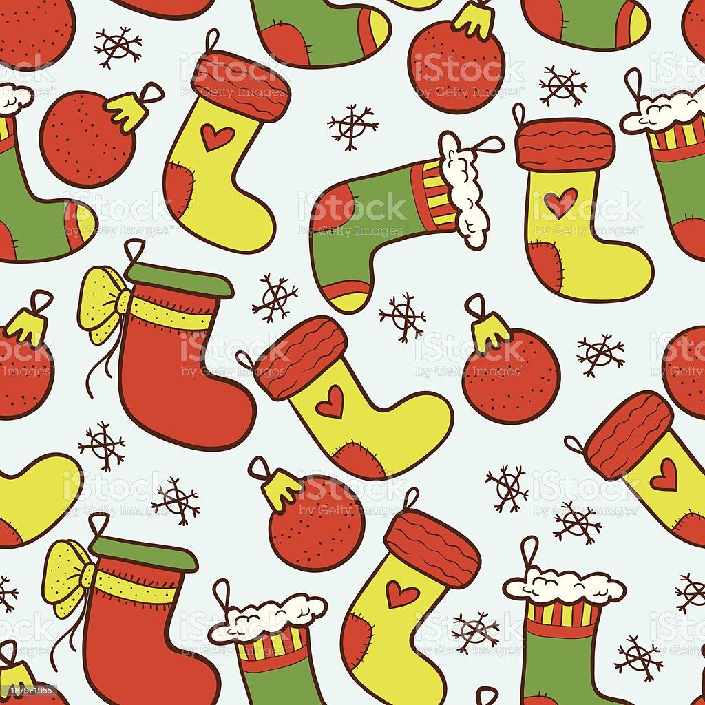 Colourful Christmas stockings seamless background royalty-free colourful christmas stockings seamless background stock vector art & more images of abstract