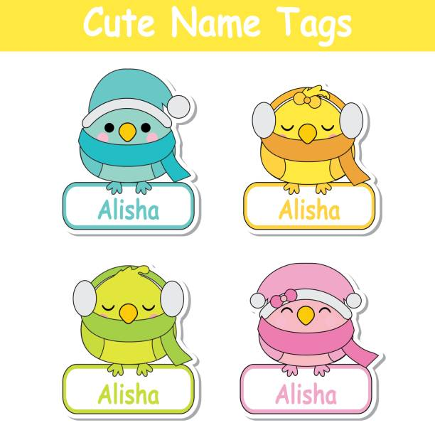 Best Pink Name Tags Illustrations, Royalty-Free Vector Graphics