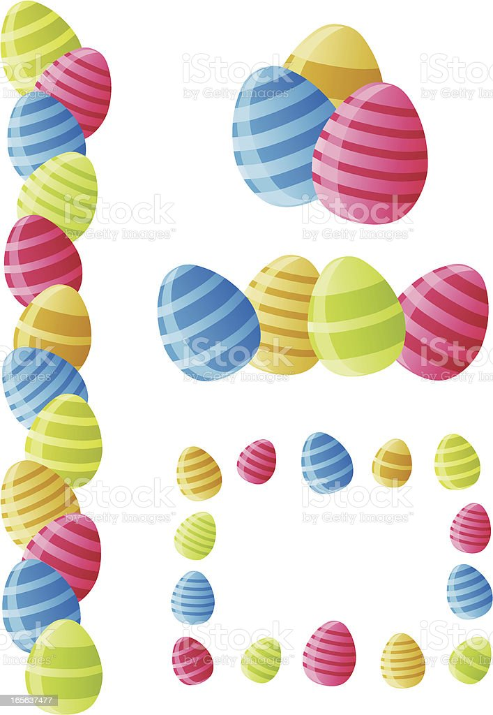 Colourful Easter Eggs royalty-free stock vector art